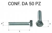 Vite testa esagonale per chiave da 13 mm M8 x 30 zincata
