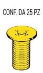 Vite testa svasata con impronta a croce M8 x 25 mm zincata gialla