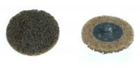Mini dischi abrasivi in fibra da 50 mm con attacco rapido