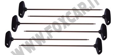 Serie chiavi Torx extra lunghe T10 - T30