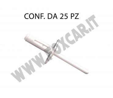 Rivetto bianco in plastica per Bmw X5
