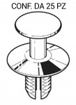 Rivetto in plastica per cofano motore Bmw lunghezza 125 mm per foro da 65 mm