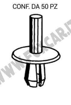Rivetto ad espansione in plastica per Lancia, Iveco con testa da 16 mm e per foro   da 5,5 mm