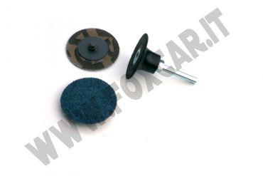 Platorello dischi ad 1/4 giro e attacco da 6 mm per smerigliatrici ad aria