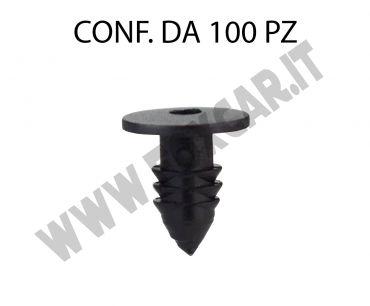 Bottone in plastica per fissaggio guarnizione cofano e porta Fiat, Ferrari, Iveco