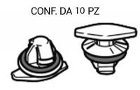 Bottone di fissaggio per la guarnizione in gomma del giro porta della ...