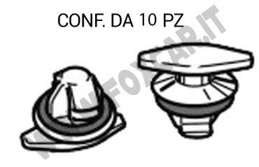 Bottone di fissaggio per la guarnizione in gomma del giro porta della Fiat Grande   Punto