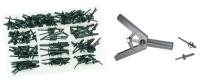 Kit di 130 rivetti specifici + rivettatrice per rivetti in plastica