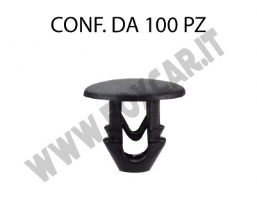 Bottone di fissaggio per guarnizione cofano Lancia e Alfa Romeo