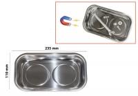 Ciotola magnetica rettangolare porta minuteria 235x110 mm