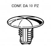 Bottone in plastica per fissaggi rivestimenti e pannelli su Fiat, Lanc...