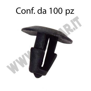 Bottone in plastica per fissaggio guarnizione porta e cofano motore su Fiat, Alfa,   Lancia, Maserati