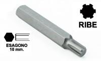 Chiavi a inserto con impronta RIBE M8, esagono 10 mm, lunghezza totale...