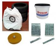 Kit sostituzione pneumatici con spazzola rimuovi adesivi