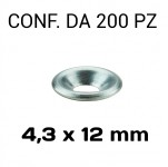 Rondella sottovite svasata in alluminio Ø foro 4,3 mm, diametro ester...