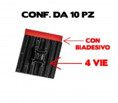 Basette flessibili adesive porta fascette di colore nero