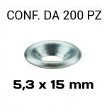 Rondella sottovite svasata in alluminio Ø foro 5,3 mm, diametro ester...