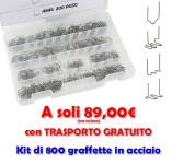 Kit 800 graffette per saldatura plastica