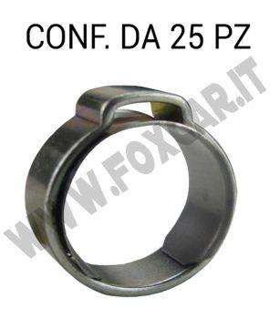 Fascette pinzabili a orecchio con anello stringitubo in acciaio. Guarda le misure disponibili