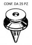 Bottone per fissaggi fermapannelli porta e rivestimenti su Renault
