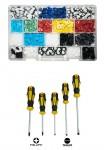 Promo Kit 885 madreviti in plastica + Set 5 cacciaviti a taglio e croc...