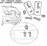Kit fissaggio targa per vetture Americane
