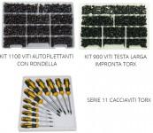 Offerta Kit 1100 viti autofilettanti con rondella + Kit 900 viti testa...