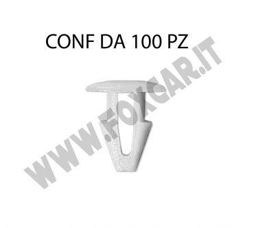Bottone in plastica bianco per fissaggio targa testa diametro 10 mm lunghezza tot.   11,5 mm