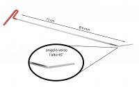 Leva grandine testa piatta tonda con angolo 45° verso l'alto lunghezz...