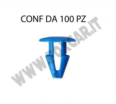 Bottone in plastica blu fissaggio targhe per auto