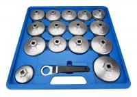 Set 15 chiavi a tazza per filtri olio