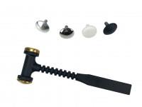 Mini martello per carrozzeria con punte intercambiabili