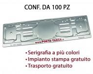 Porta targa posteriore in alluminio con stampa digitale. Conf. 100 pz
