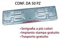 Porta targa posteriore in acciaio verniciato grigio metallizzato con s...