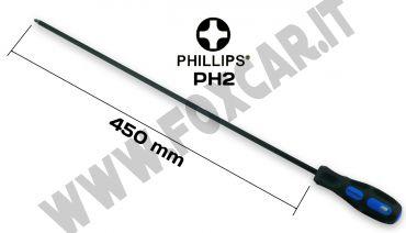 Cacciavite extra lungo a croce PH2 lama da 450 mm