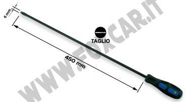 Cacciavite a taglio da 6,5 mm extra lungo con lama da 450 mm