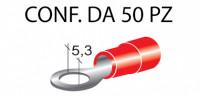 Terminali ad occhiello presisolati per viti da 5 mm e cavi da 0,25 a 1...