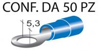 Terminali ad occhiello presisolati per viti da 5 mm e cavi da 1 a 2,5 ...