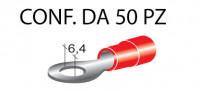 Terminali ad occhiello presisolati per viti da6 mm e cavi da 0,25 a 1 ...