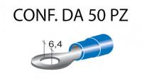 Terminali ad occhiello presisolati per viti da 6 mm e cavi da 1 a 2,5 ...