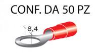 Terminali ad occhiello presisolati per viti da 8 mm e cavi da 0,25 a 1...