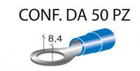 Terminali ad occhiello presisolati per viti da 8 mm e cavi da 1 a 2,5 ...