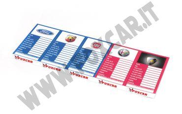 Cartellini olio in carta adesiva speciale serigrafabili