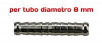 Attacco doppia resca Ø 8 mm per riparazioni tubi aria