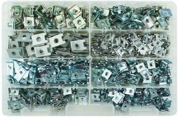 Assortimento di 650 madreviti metalliche varie dimensioni per un totale di 8 modelli   diversi