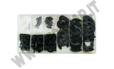 Kit di 300 anelli di arresto RA seeger per perni con misure da 1,5 a 22 mm