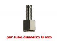 Attacco resca Ø 8 mm da 1/4 femmina
