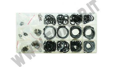 Cassetta con 300 anelli seeger esterni per perni da 3 a 32 mm di diametro