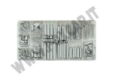 Kit 200 molle di compressione da 5,5 a 9,5 mm ed estensione da 4 a 8,5 mm