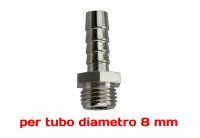 Attacco resca Ø 8 mm da 1/4 maschio